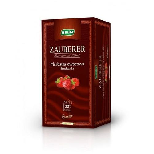 ZAUBERER. Herbata owocowa TRUSKAWKOWA 40 szt.