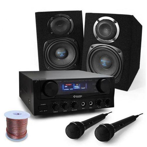 """Elektronik-star """"rio rumble"""" zestaw do karaoke, głośniki, mikrofon 400w"""