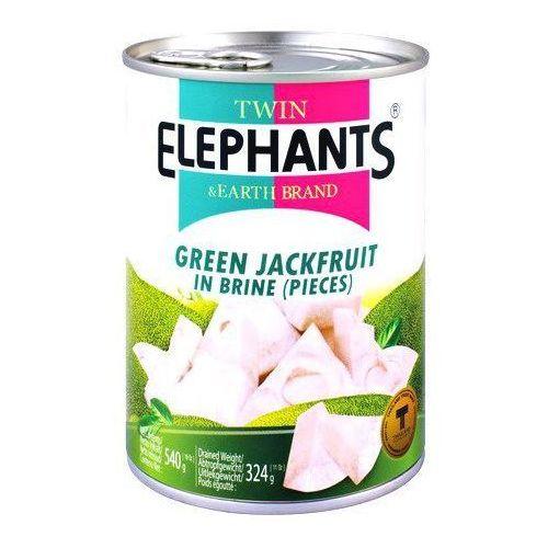 Twin elephants & earth brand Jackfruit (dżakfrut) w słonej zalewie 24 x 540g (cały karton) -