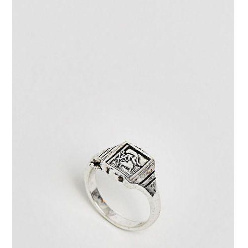 Asos curve Asos design curve vintage style st christopher signet ring - silver