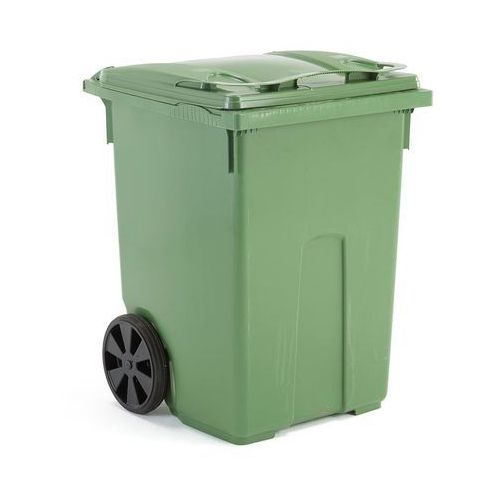 Zielony kontener na odpadki o poj. 370 l - 745x800x1075mm
