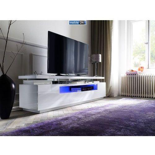 Szafki pod TV białe wysoki połysk LINKA 200/50cm - ART