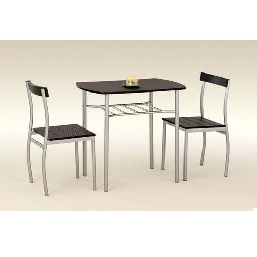 stół z krzesłami LANCE + 2 krzesła (wenge) z kategorii zestawy mebli kuchennych
