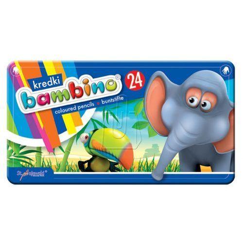 Majewski Kredki bambino 24 kolory w metalowym pudełku