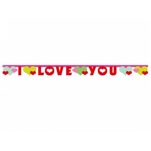 Amscan Baner z napisem i love you - 170 x 11 cm - 1 szt. (4009775491842)