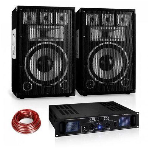 """Electronic-Star Zestaw PA Saphir Series """"Warm Up Party"""" 12PLUS z parą głośników& wzmacniaczem 700W"""