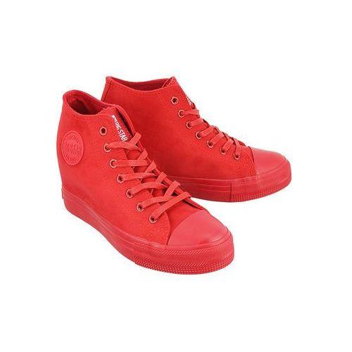 bb274088 czerwony micro, trampki, sneakersy damskie - czerwony marki Big star
