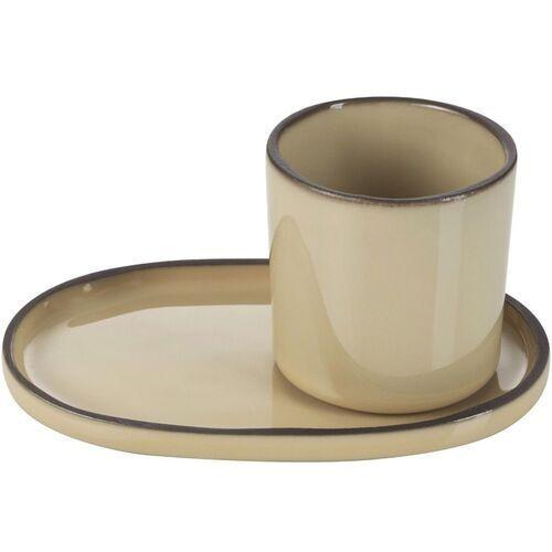 Revol Filiżanka do espresso porcelanowa 80 ml caractere gałka muszkatołowa (rv-652686-4)