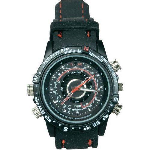 Minikamera z DVR w zegarku, 1280 x 960 pikseli, 4GB wbudowanej pamięci, 70 min nagrań, Mini DVR in der Armbanduhr