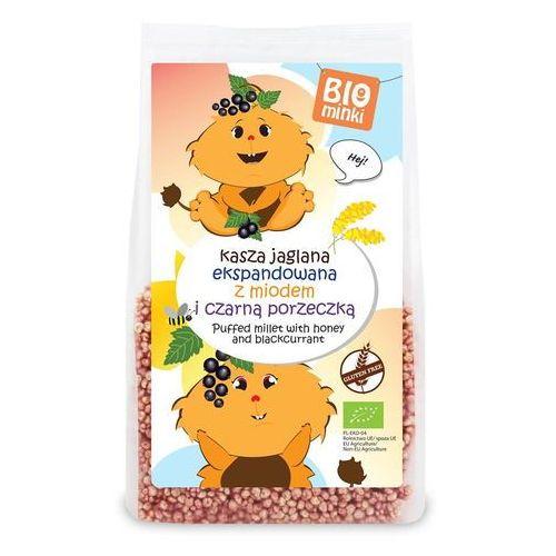 Biominki (przekąski dla dzieci) Kasza jaglana ekspandowana z miodem i czarną porzeczką bezglutenowa bio 170 g - biominki (5907738152726)