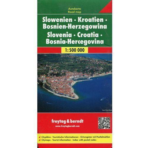 Słowenia Chorwacja Bośnia i Hercegowina. Mapa 1:500 000 (2011)