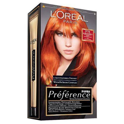 Farba do włosów Feria Preference - P78 Pure Intensywna Miedź, L'Oréal