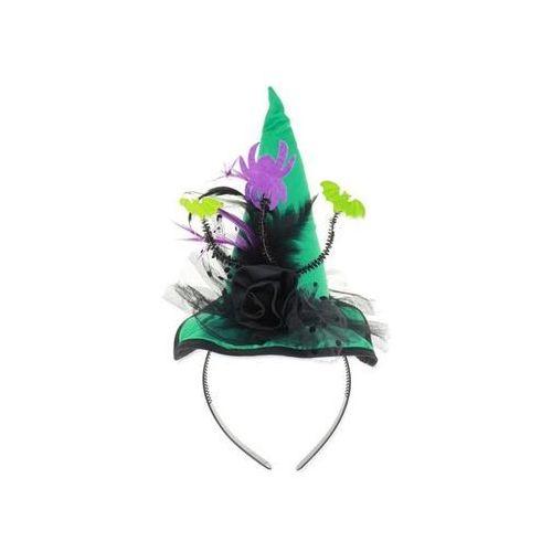 Opaska kapelusz turkusowy Pióra i Nietoperze - 1 szt.