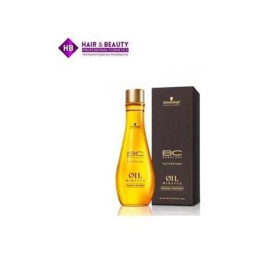 bc oil miracle maseczka do pielęgnacji końcowej z olejkiem arganowym olejek czarny 100 ml marki Schwarzkopf