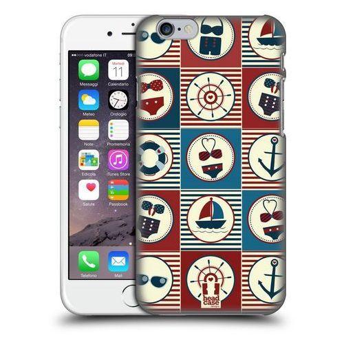 Etui plastikowe na telefon - Nautical Summer DARK BLUE AND RED