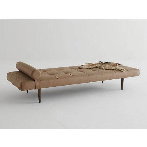Sofa Napper brązowa 593 nogi ciemne drewno  740030593-740031-3, INNOVATION iStyle