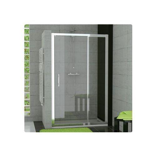 Ronal Top-Line Drzwi prysznicowe jednoczęściowe ze ścianką stałą w linii - 120/190cm srebrny matowy Szk�