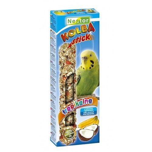 NESTOR Kolba dla małych papug - TROPIKALNA Z KOKOSEM I BANANAMI (2szt/op)