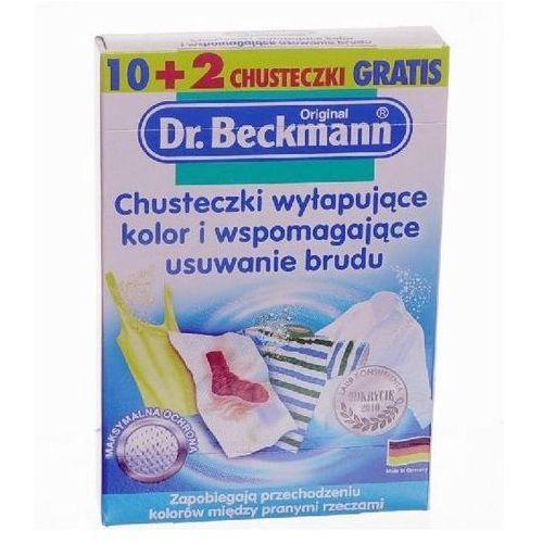 Dr BECKMANN Chusteczki wyłapujące kolor 12 szt. (wybielacz i odplamiacz do ubrań) od Bliżej Ciebie