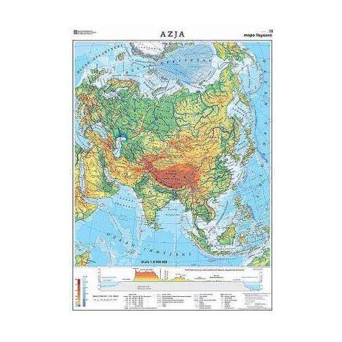 Azja. Mapa ogólnogeograficzna / do ćwiczeń. Mapa ścienna Azji, produkt marki Nowa Era