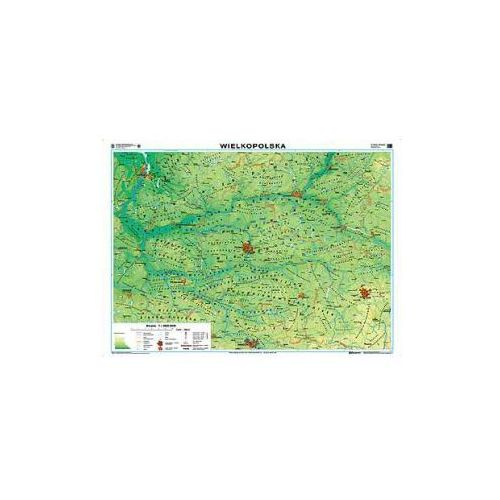 Produkt Wielkopolska. Mapa regionalna ogólnogeograficzna/krajobrazowa. Mapa ścienna., marki Nowa Era