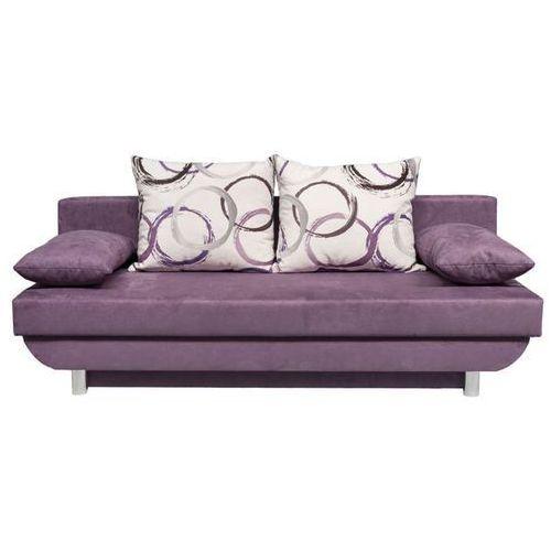 Sofa rozkładana Barcelona - fioletowy, Meble tapicerowane