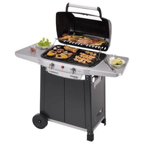 Texado Super Vario, elegancki grill gazowy z bocznymi panelami, produkt marki Campingaz