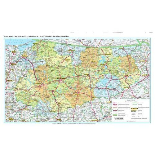 Województwo Warmińsko-Mazurskie. Mapa ścienna administracyjno-drogowa 1:200 000 wyd. , produkt marki Eko-Graf