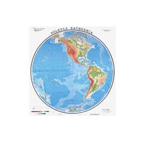 Produkt Świat / Półkula Zachodnia. Mapa ścienna, fizyczna, marki Nowa Era