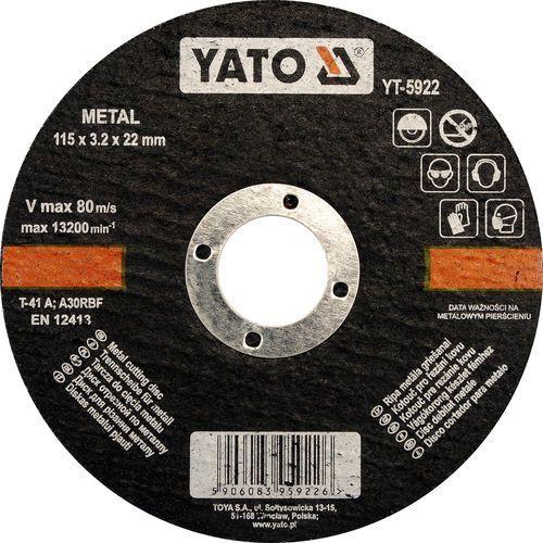 Oferta Tarcza do cięcia metalu 125x1,2x22 mm YT-5923