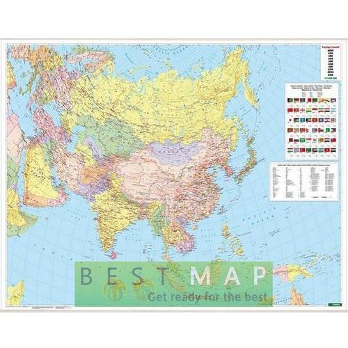 Azja. Mapa ścienna polityczna w ramie 1:9 mln wyd. , produkt marki Freytag&Berndt