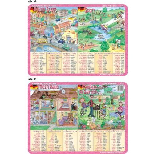 Język niemiecki - podkładka edukacyjna nr 045 - oferta [357de70151b2132e]