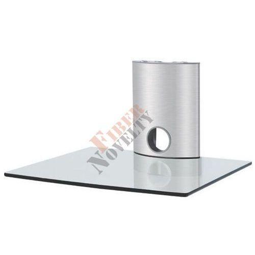 Fiber Novelty Półka audio video DVD hartowane szkło i polerowane aluminium - FN101CS z kat. półki rtv
