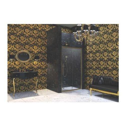 Huppe Enjoy Victorian Drzwi suwane 1-częściowe ze stałym segmentem - Mocowanie prawe 100/195 Złoty mat Szk
