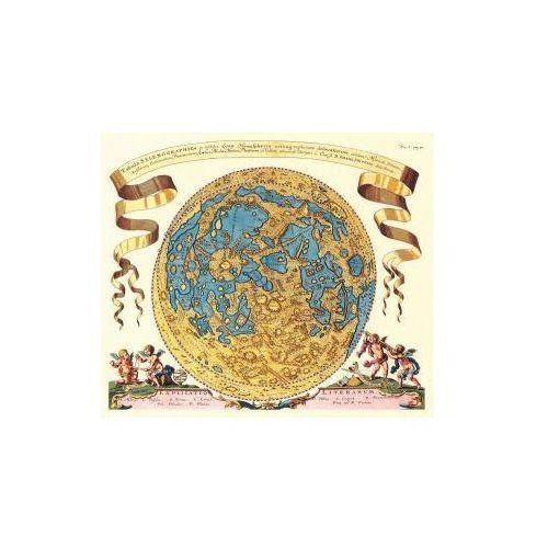 Mapa widocznej hemisfery Księżyca wg Selenografii J. Heweliusza, 1647 r., produkt marki Golden Maps Publishing
