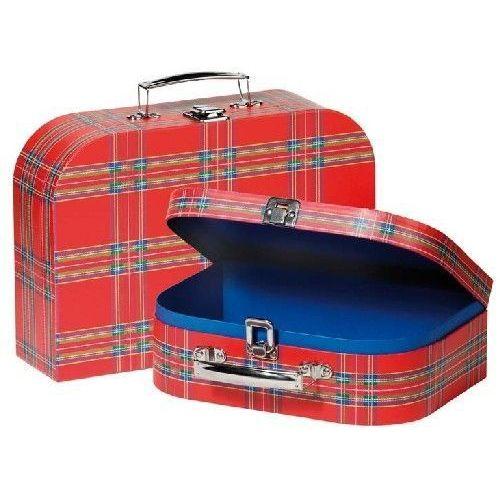 Zestaw walizek dla dzieci w czerwoną kratę - produkt dostępny w www.epinokio.pl