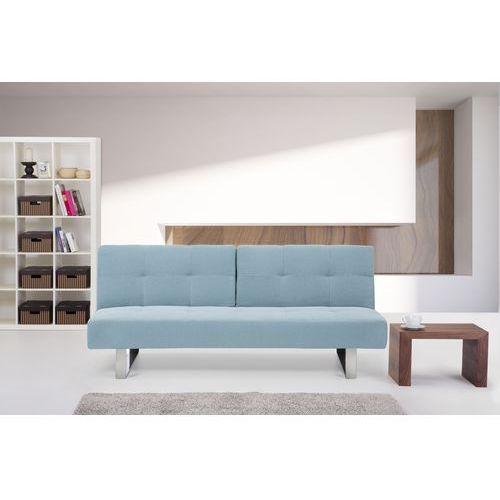 Rozkladana sofa ruchome oparcie - DUBLIN mietowy, Beliani