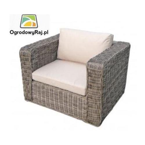 Fotel ogrodowy z podłokietnikami MAURITIUS MAURITIUS-FOTP-TR-NATUR.BEZ/BEZ ze sklepu OgrodowyRaj.pl