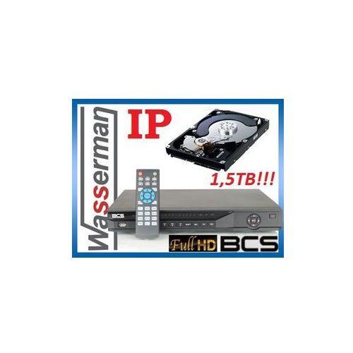 Rejestrator IP sieciowy 4kan. BCS NVR-0402 + dysk HDD 1,5TB!