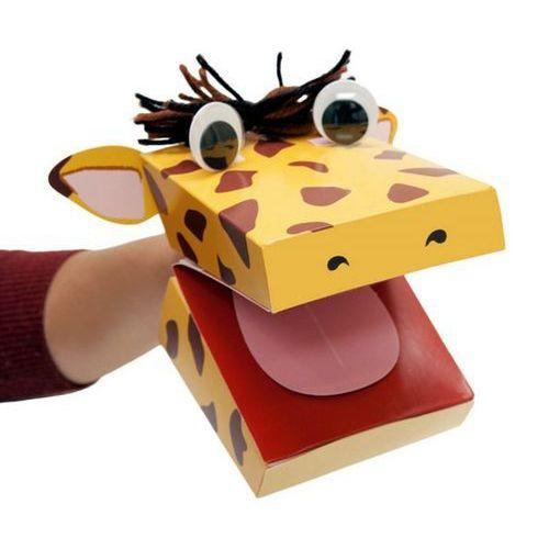 Zestaw kreatywny pacynka żyrafa (pacynka, kukiełka)