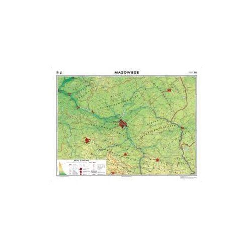 Produkt Województwo mazowieckie / Mazowsze. Mapa regionalna. Fizyczna / krajobrazowa. Mapa ścienna, marki Nowa Era