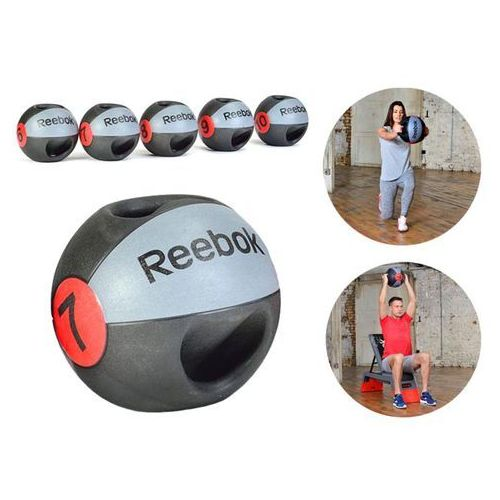PIŁKA LEKARSKA Z UCHWYTAMI REEBOK 10KG RSB-10130, produkt marki Reebok Professional