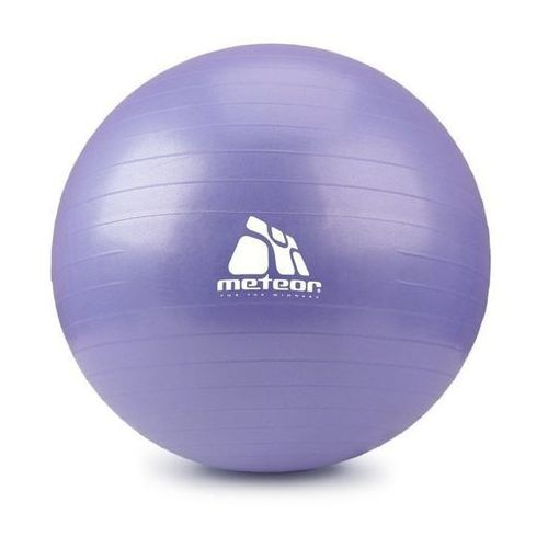 Piłka Fitness  75 cm z pompką lila (wrzos pastelowy), produkt marki Meteor