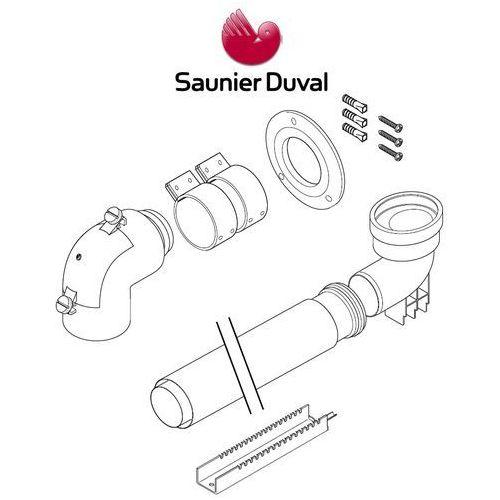 Oferta Saunier Duval zestaw do szachtu 60/100 z kolanem redukcyjnym do szachtu fi 80 S0020112555 z kat.: ogrzewanie