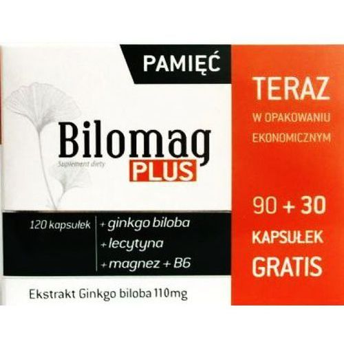 BILOMAG PLUS Ekstrakt Ginkgo biloba 110 mg + lecytyna + magnez B6 * 120 kapsułek