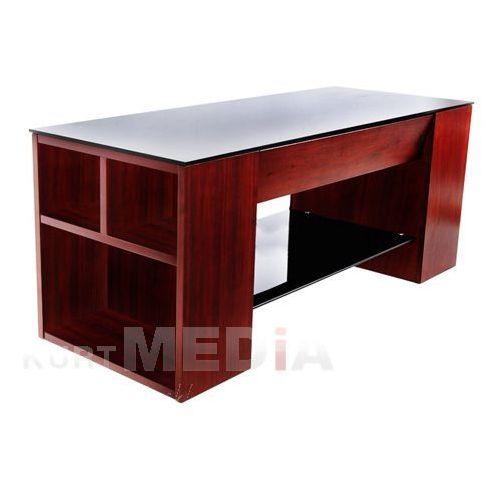 4World style Stolik TV EASY-A - szklany blat i półka z kat. półki rtv