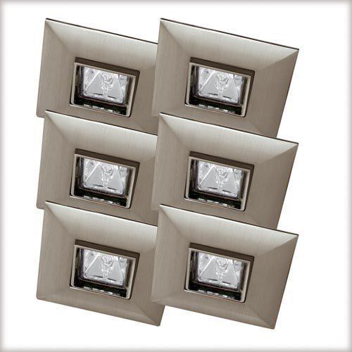 Wysokogat. oprawy wbudowywane Quadro wychylne stal sat. 6x35W z kategorii oświetlenie
