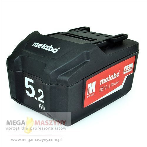 METABO Akumulator 18 V Li-Power - 5,2 Ah, kup u jednego z partnerów
