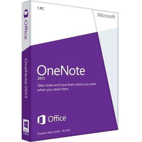 Microsoft OneNote 2013 32-bit/x64 ENG Win ESD - wersja niekomercyjna - produkt z kategorii- Pozostałe oprogramowanie