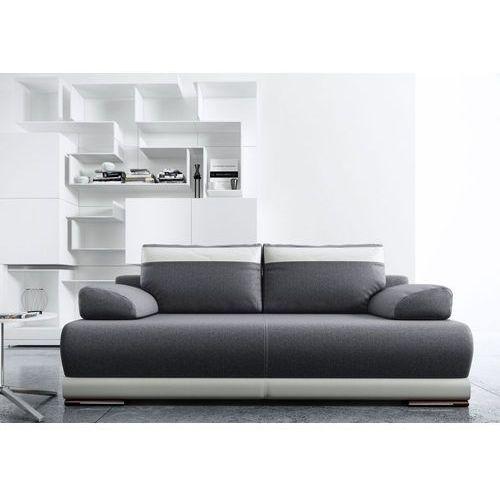 Sofa rozkładana Ontario - szary - biały, Meble Tapicerowane - Studio Wnętrz